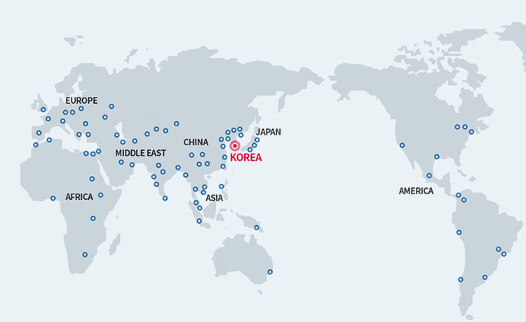POSCO INTERNATIONAL Global Map